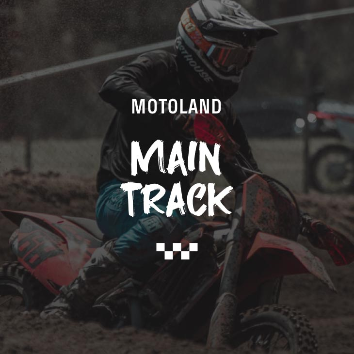 motocross rider turning a corner on the track